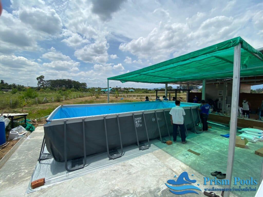 ติดตั้งสระว่ายน้ำ Intex Ultra XTR 24 ฟุต - 6