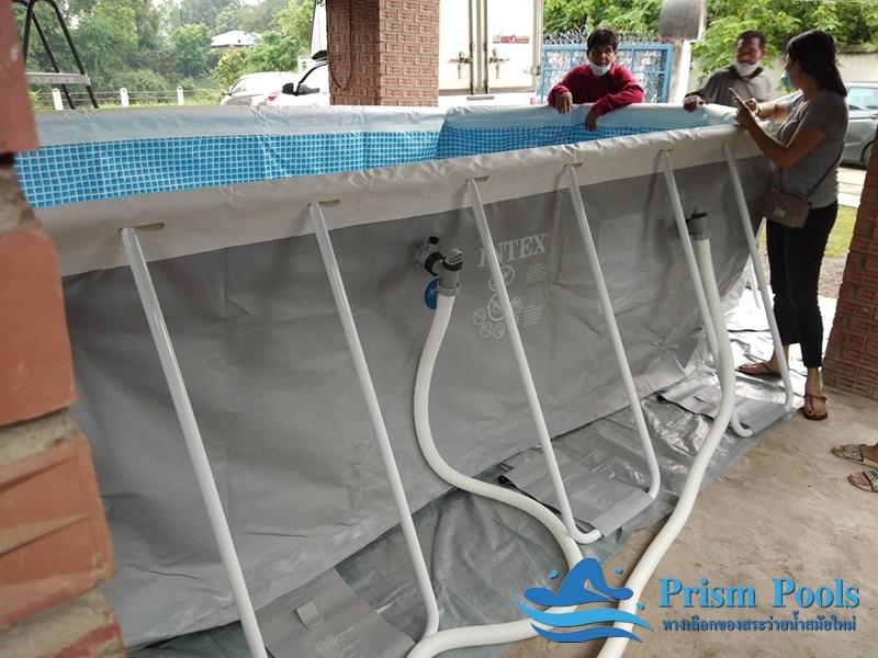 บริการติดตั้ง 1 สระว่ายน้ำ intex prism pool