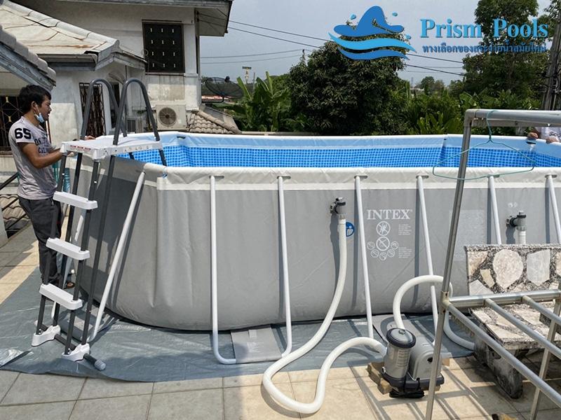 สระว่ายน้ำ intex prism pool บริการติดตั้ง 3