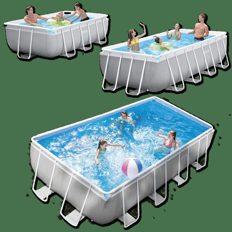 สระว่ายน้ำ intex สระว่ายน้ำสำเร็จรูป รุ่น Prism Rectangular 10 ฟุต 13 ฟุต และ 16 ฟุต รหัส 26784 26788 26792