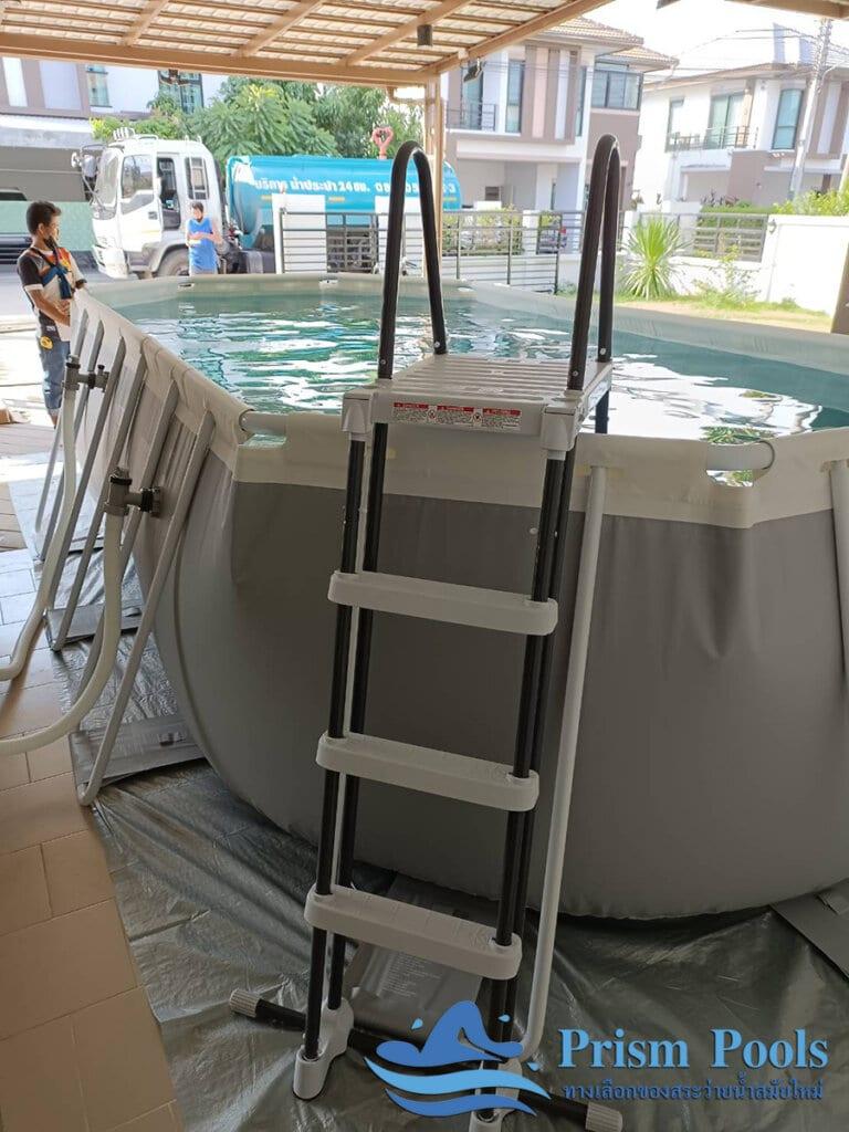 สระว่ายน้ำ intex รีวิว Prism Oval - 7