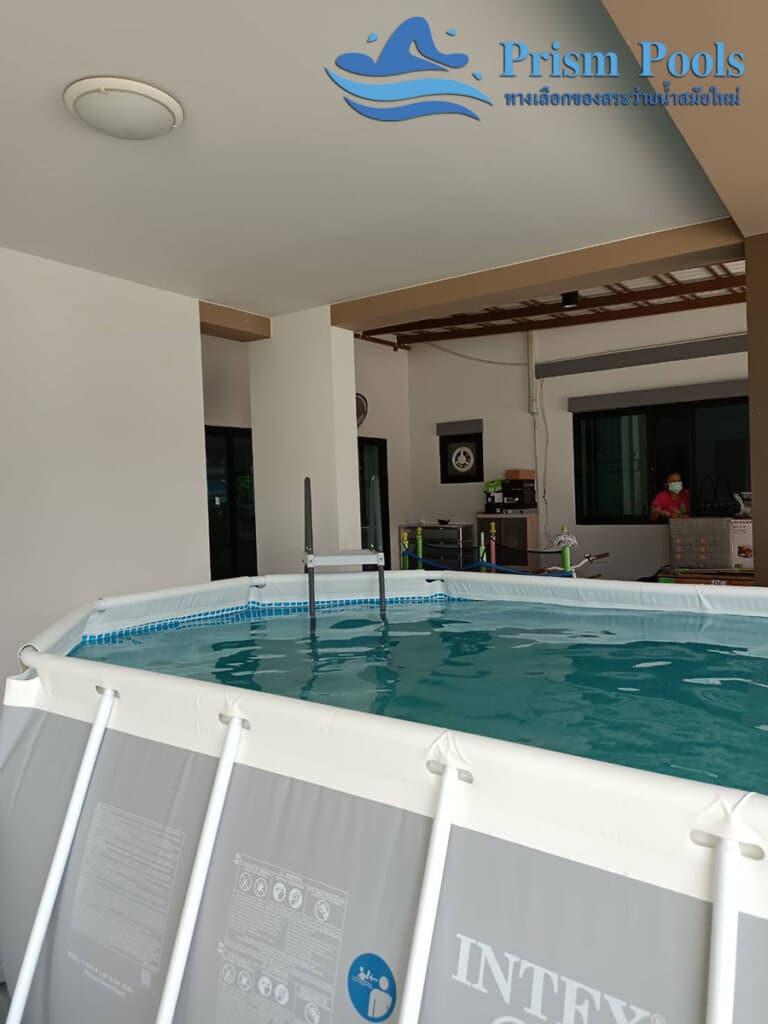 สระว่ายน้ำ intex รีวิว Prism Oval - 9