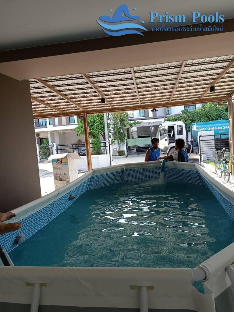 สระว่ายน้ำ intex รีวิว Prism Oval - 10