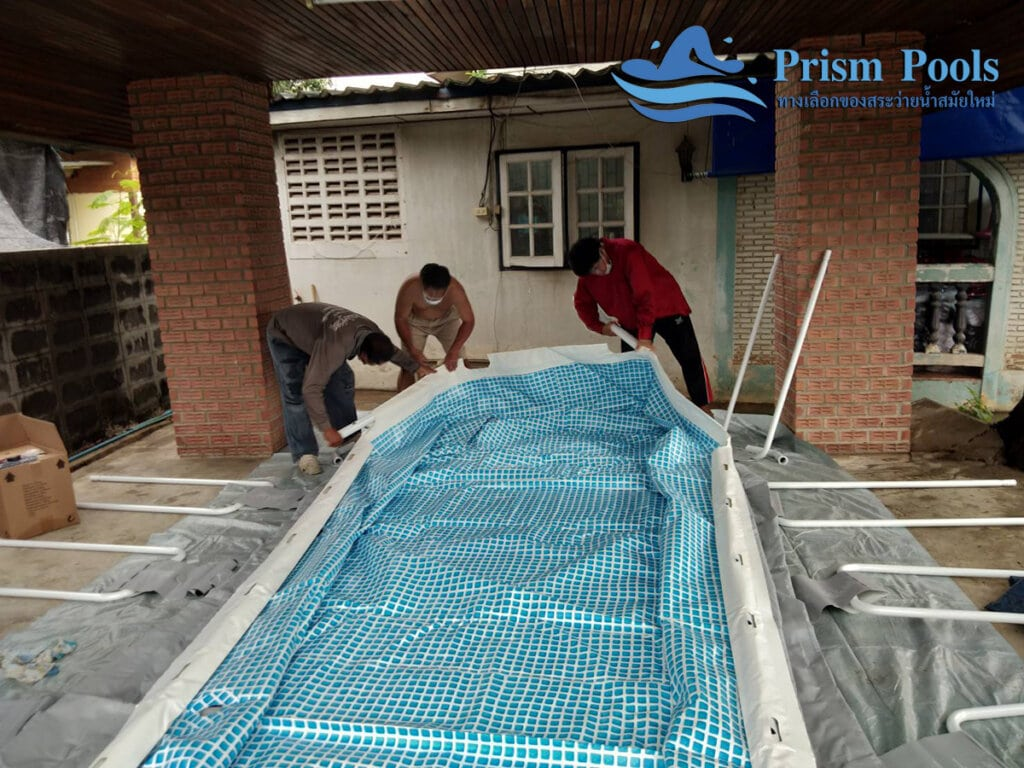 สระว่ายน้ำ intex รีวิว Prism Oval - 20