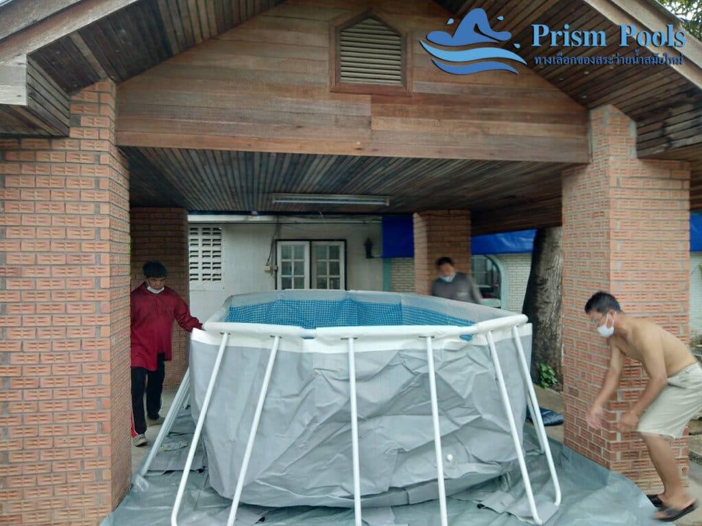 สระว่ายน้ำ intex รีวิว Prism Oval - 21