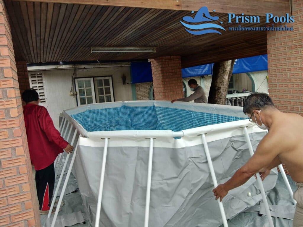 สระว่ายน้ำ intex รีวิว Prism Oval - 22