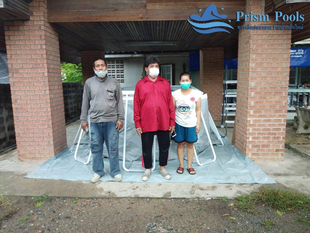 สระว่ายน้ำ intex รีวิว Prism Oval - 25