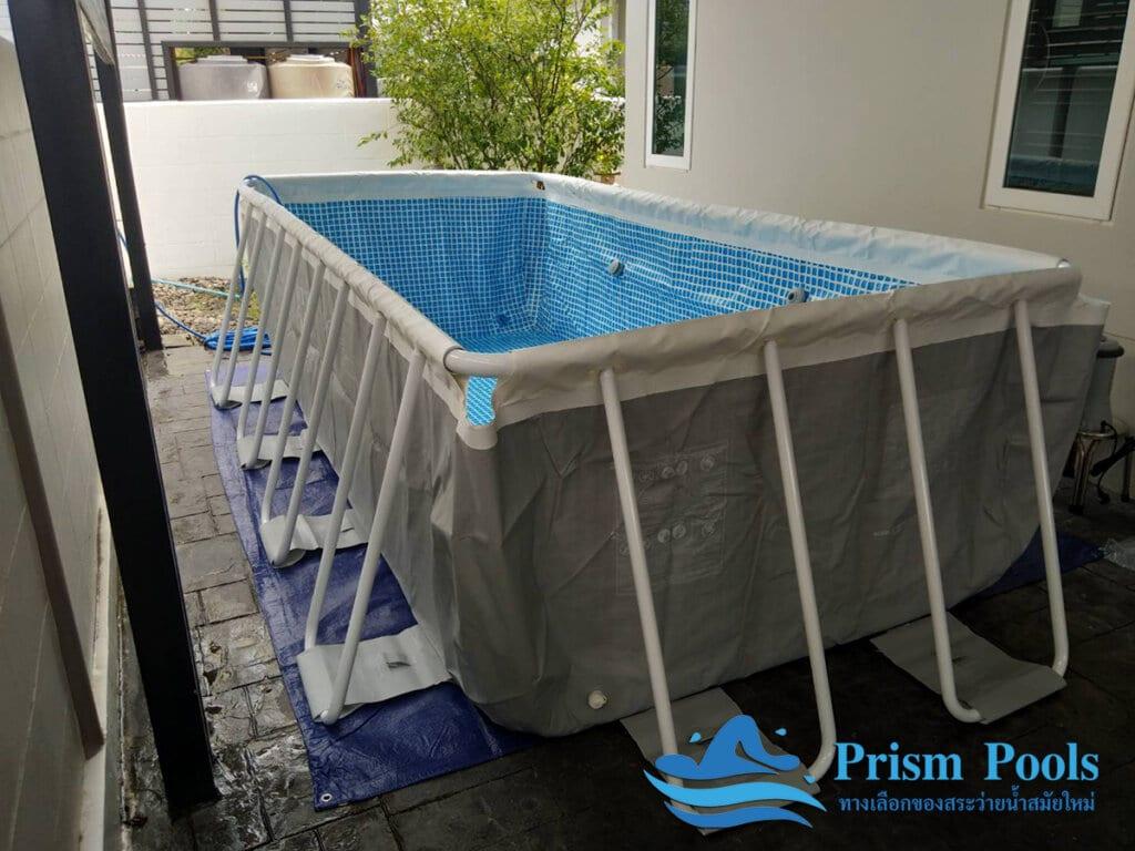 สระว่ายน้ำ intex รีวิว Prism Rectangular - 6