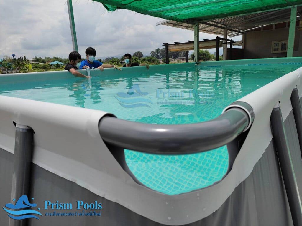 ติดตั้งสระว่ายน้ำ Intex Ultra XTR 24 ฟุต - 13