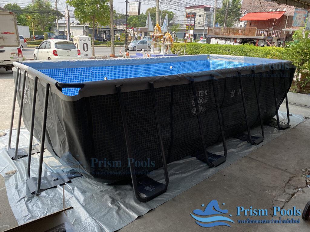 รีวิว สระว่ายน้ำ Intex สระว่ายน้ำสำเร็จรูป Ultra XTR Rectangular 18 ฟุต 26356 - 8