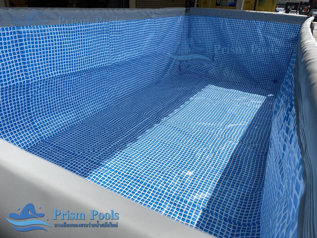 รีวิว สระว่ายน้ำ Intex สระว่ายน้ำสำเร็จรูป Ultra XTR Rectangular 18 ฟุต 26356 - 11