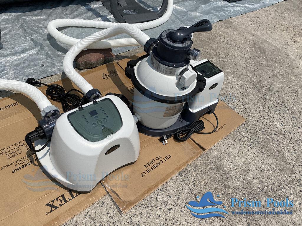รีวิว สระว่ายน้ำ Intex สระว่ายน้ำสำเร็จรูป Ultra XTR Rectangular 18 ฟุต 26356 - 15