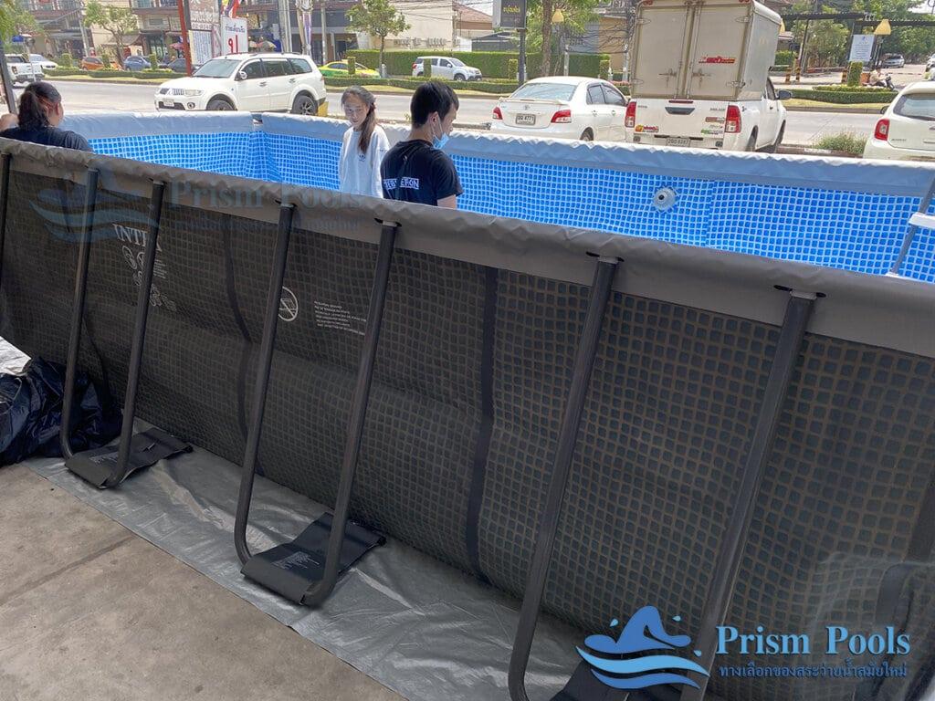 รีวิว สระว่ายน้ำ Intex สระว่ายน้ำสำเร็จรูป Ultra XTR Rectangular 18 ฟุต 26356 - 17