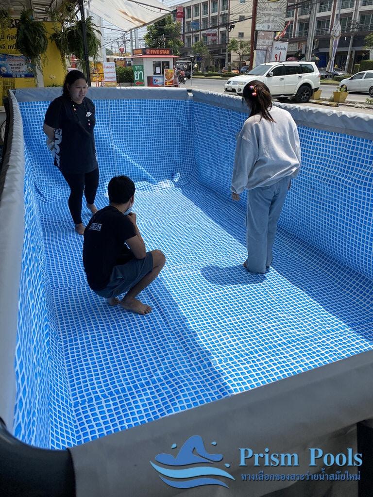 รีวิว สระว่ายน้ำ Intex สระว่ายน้ำสำเร็จรูป Ultra XTR Rectangular 18 ฟุต 26356 - 3