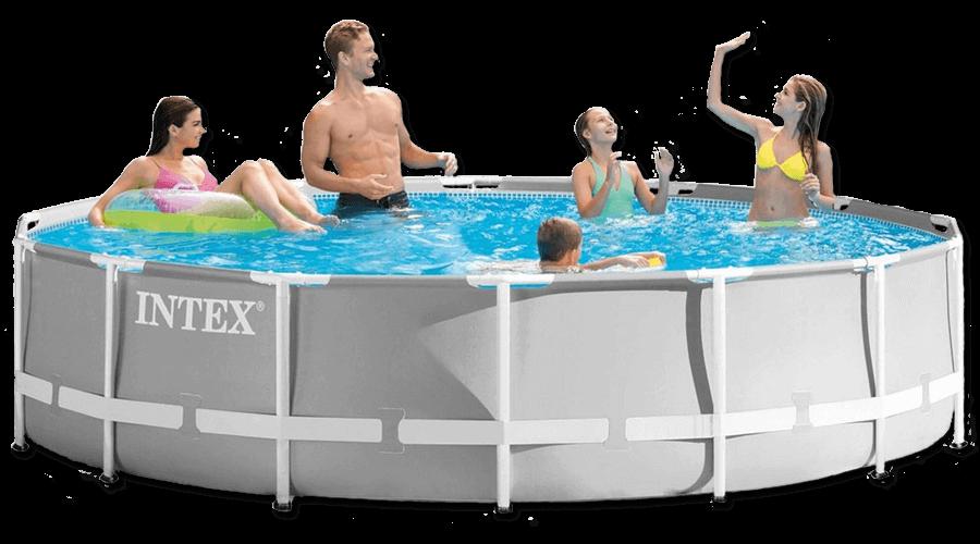 สระว่ายน้ำ intex สระว่ายน้ำสำเร็จรูป รุ่น Prism Round 15 ฟุต รหัส 26330