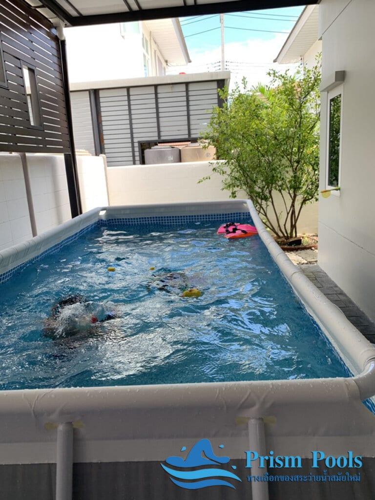 สระว่ายน้ำ intex รีวิว Prism Rectangular - 5