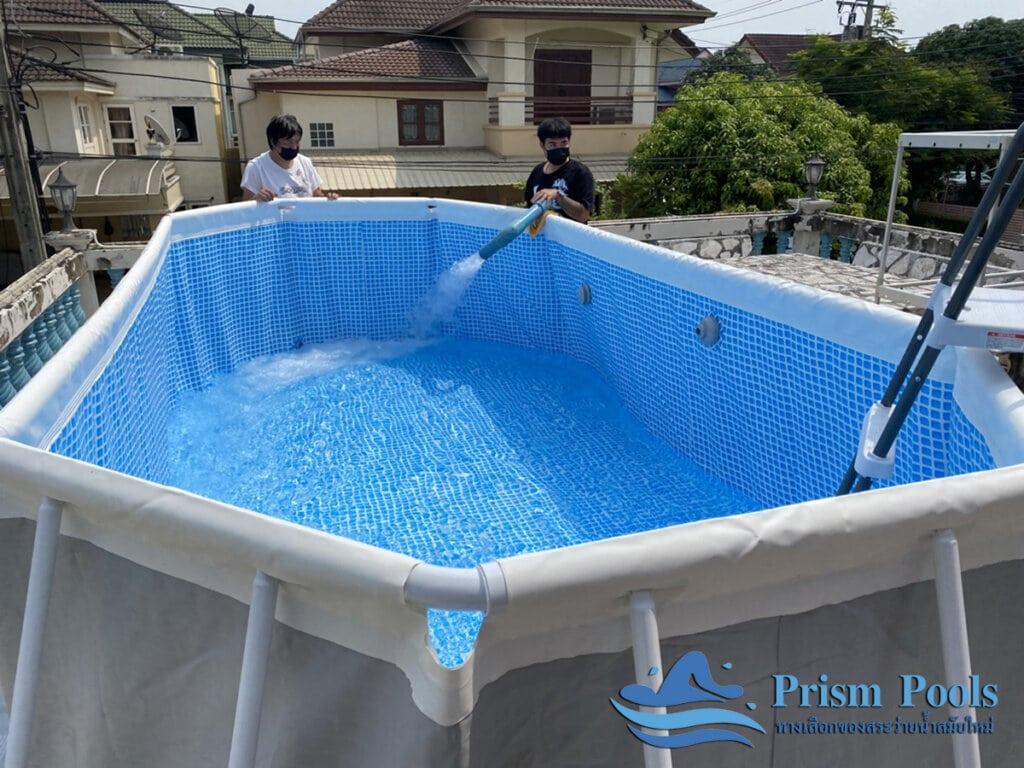 สระว่ายน้ำ intex รีวิว Prism Oval - 14