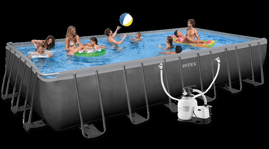 สระว่ายน้ำ intex สระว่ายน้ำสำเร็จรูป รุ่น Ultra XTR Rectangular 24 ฟุต รหัส 26368