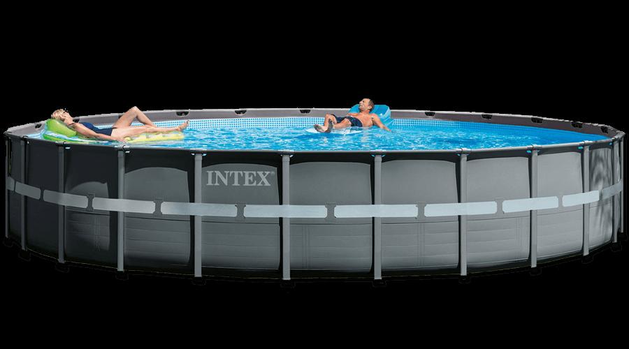 สระว่ายน้ำ intex สระว่ายน้ำสำเร็จรูป รุ่น Ultra XTR Round 24 ฟุต รหัส 26340