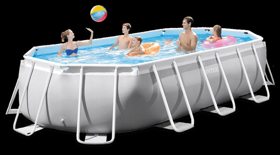 สระว่ายน้ำ intex สระว่ายน้ำสำเร็จรูป รุ่น Prism Oval 16.6 ฟุต รหัส 26796