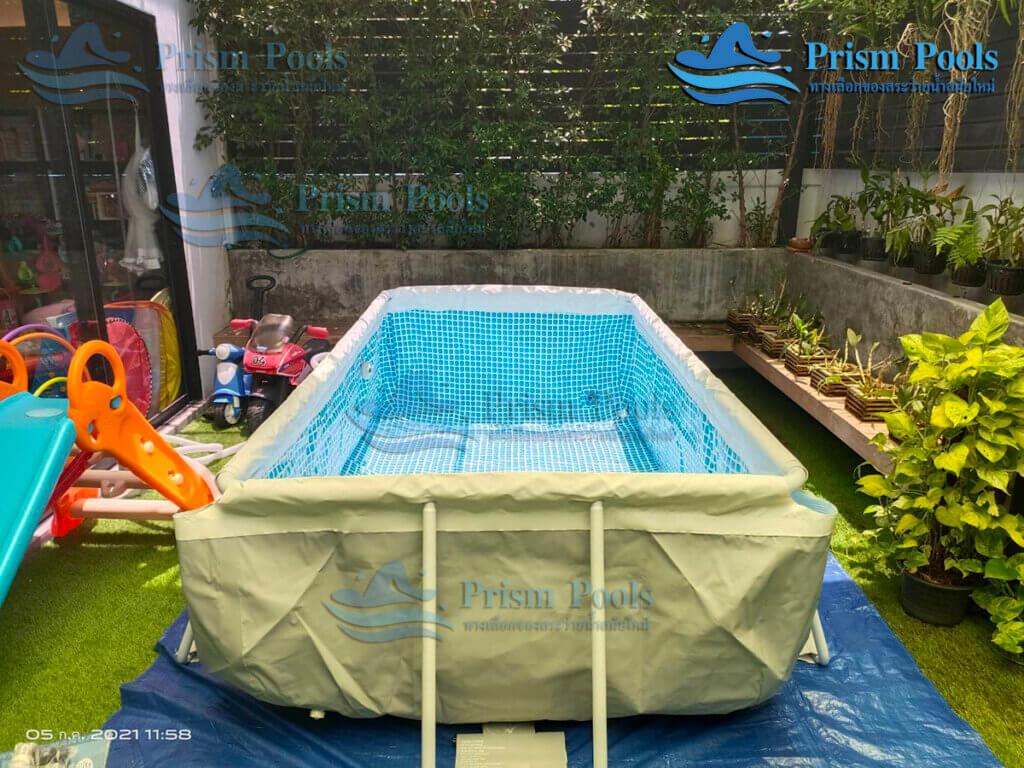 รีวิว ติดตั้งสระว่ายน้ำ Intex Prism Rectangular 10 ฟุต รหัส 26784 - 121