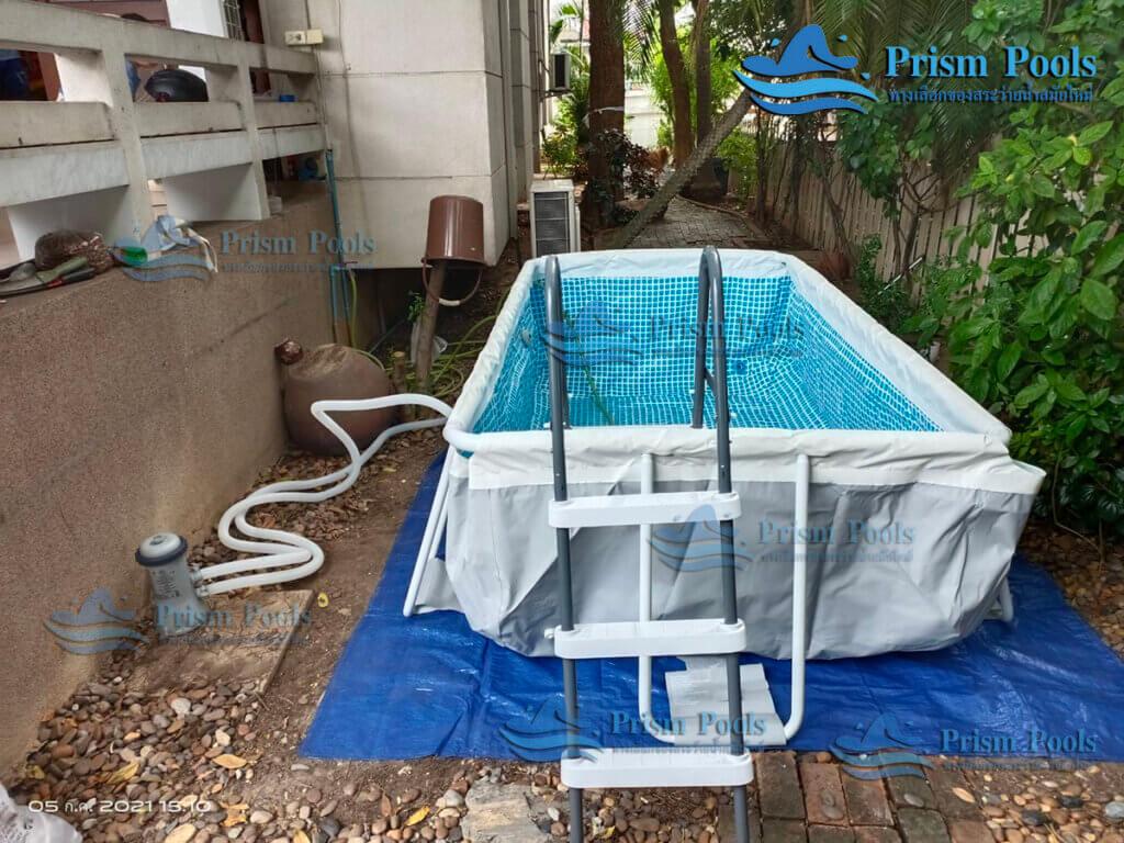 รีวิว ติดตั้งสระว่ายน้ำ Intex Prism Rectangular 10 ฟุต รหัส 26784 - 130