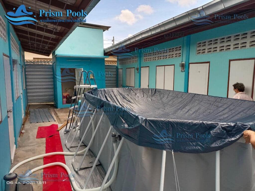 รีวิว ติดตั้งสระว่ายน้ำ Intex Prism Oval 16.6 ฟุต รหัส 26796 - 147