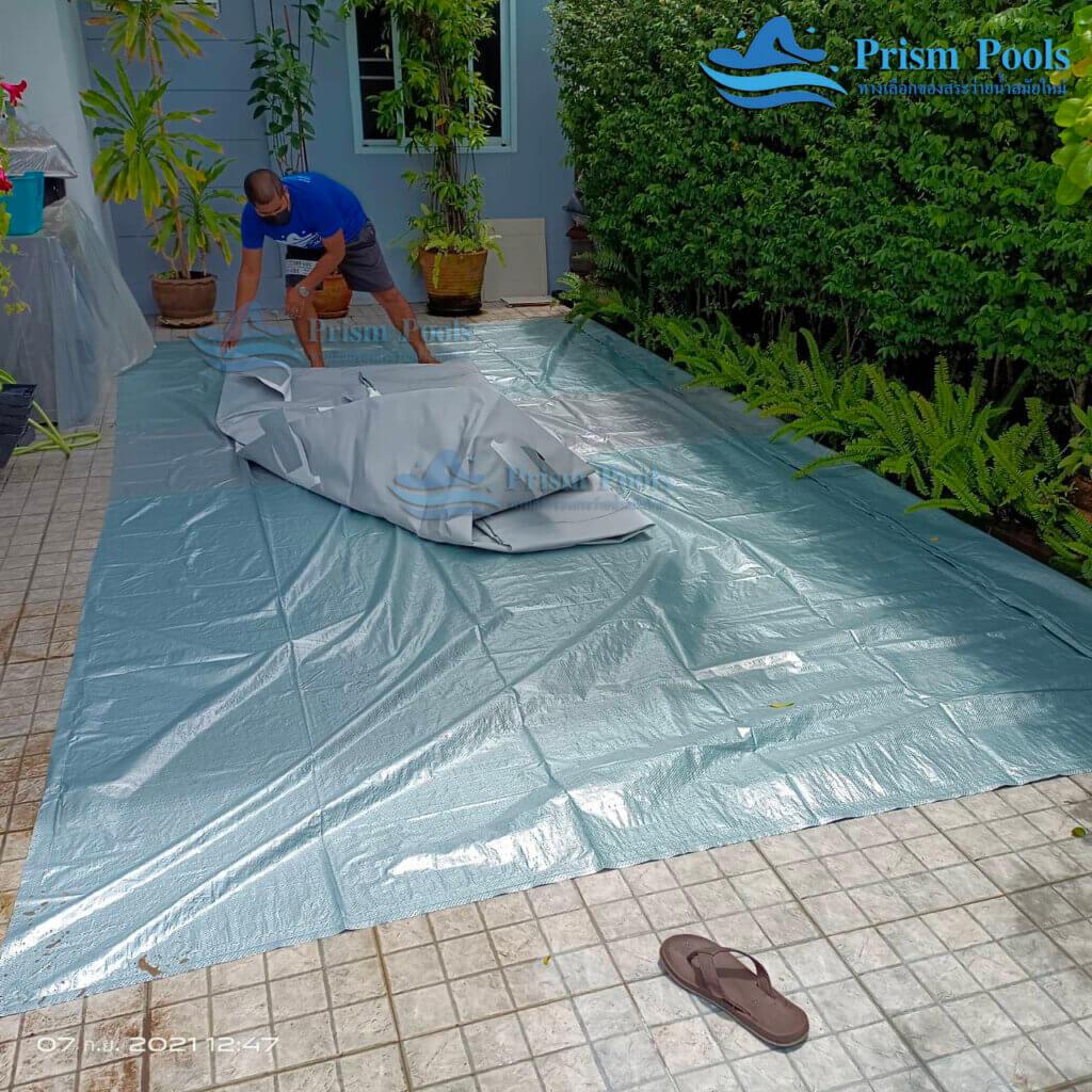 รีวิว ติดตั้งสระว่ายน้ำ Intex Prism Rectangular 16 ฟุต รหัส 26792 - 209