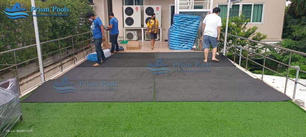รีวิว ติดตั้งสระว่ายน้ำ Intex Prism Oval 20 ฟุต รหัส 26798-117